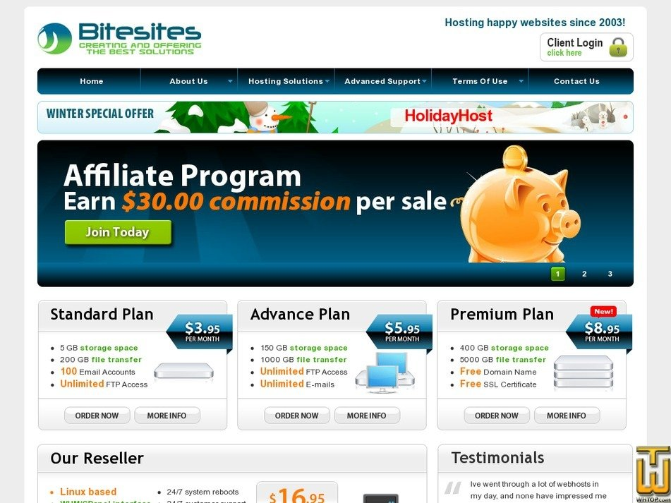 bitesites.com Screenshot