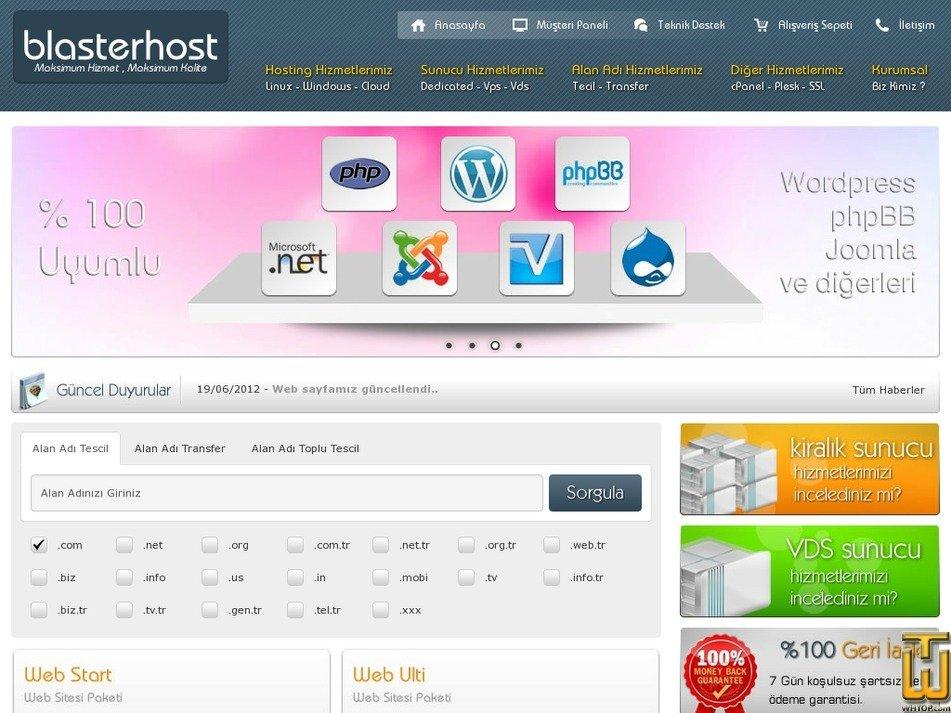 blasterhost.com Screenshot