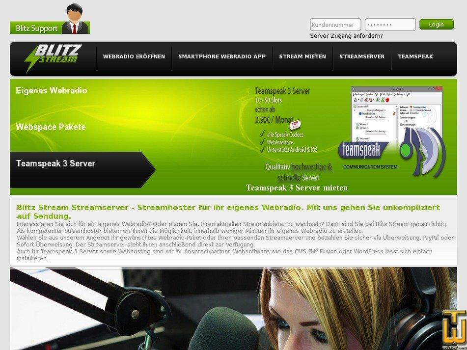 blitz-stream.de Screenshot