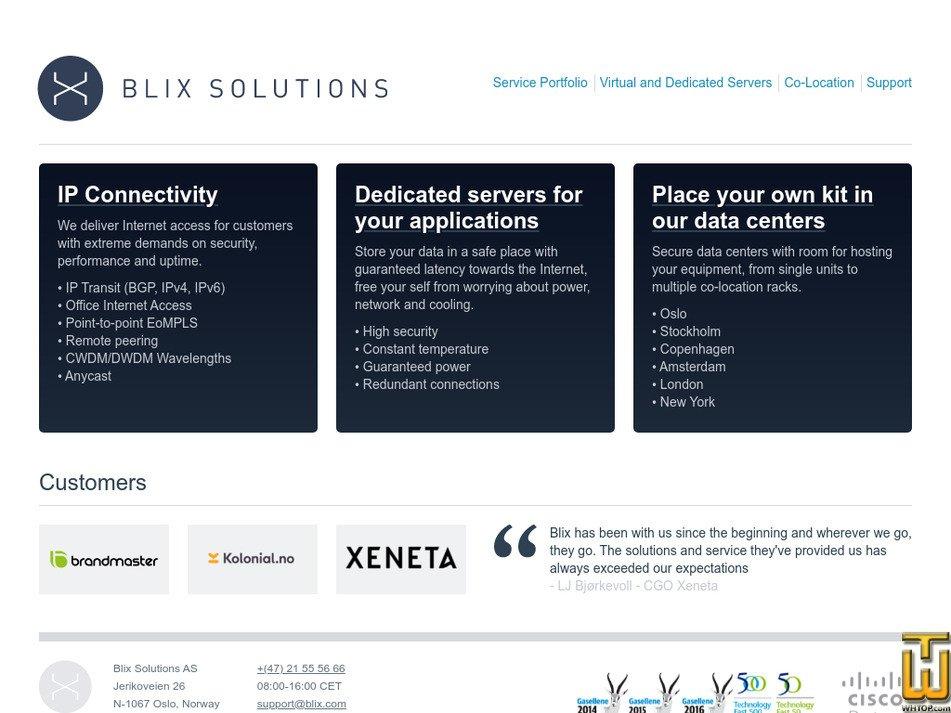 blix.com screenshot