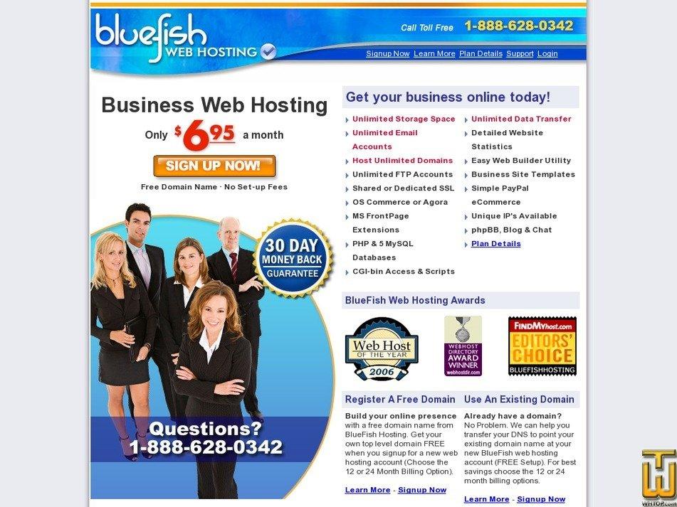 bluefishhosting.com Screenshot