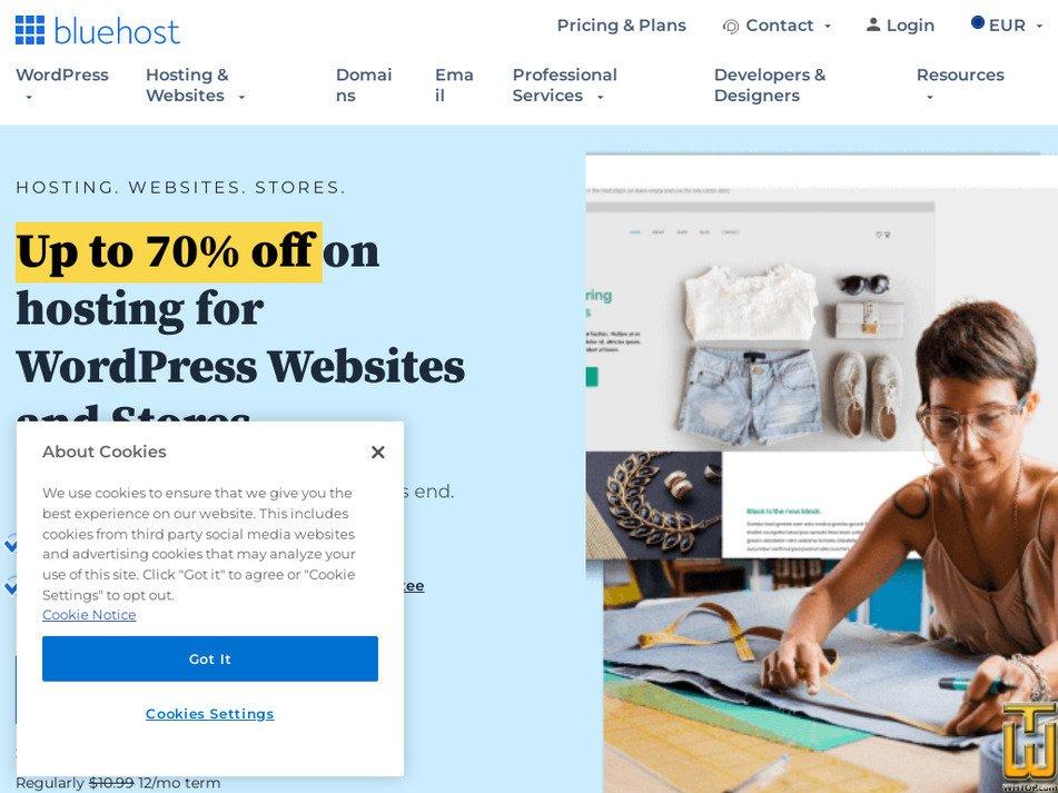 bluehost.com Screenshot