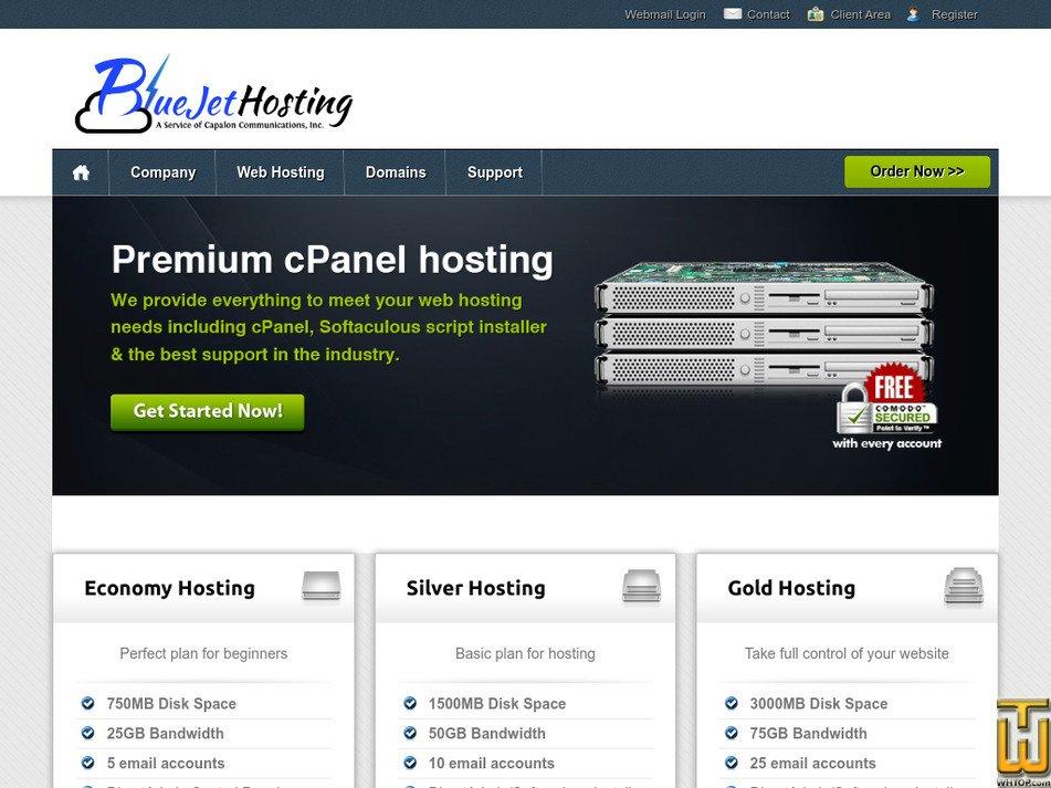 bluejethosting.com Screenshot