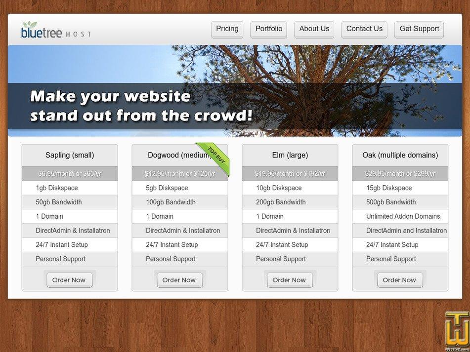bluetreehost.com Screenshot