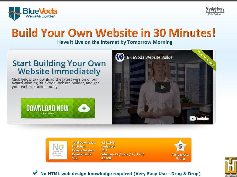 bluevoda.com Screenshot