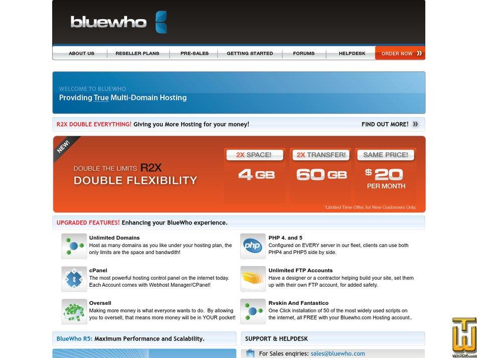 bluewho.com Screenshot