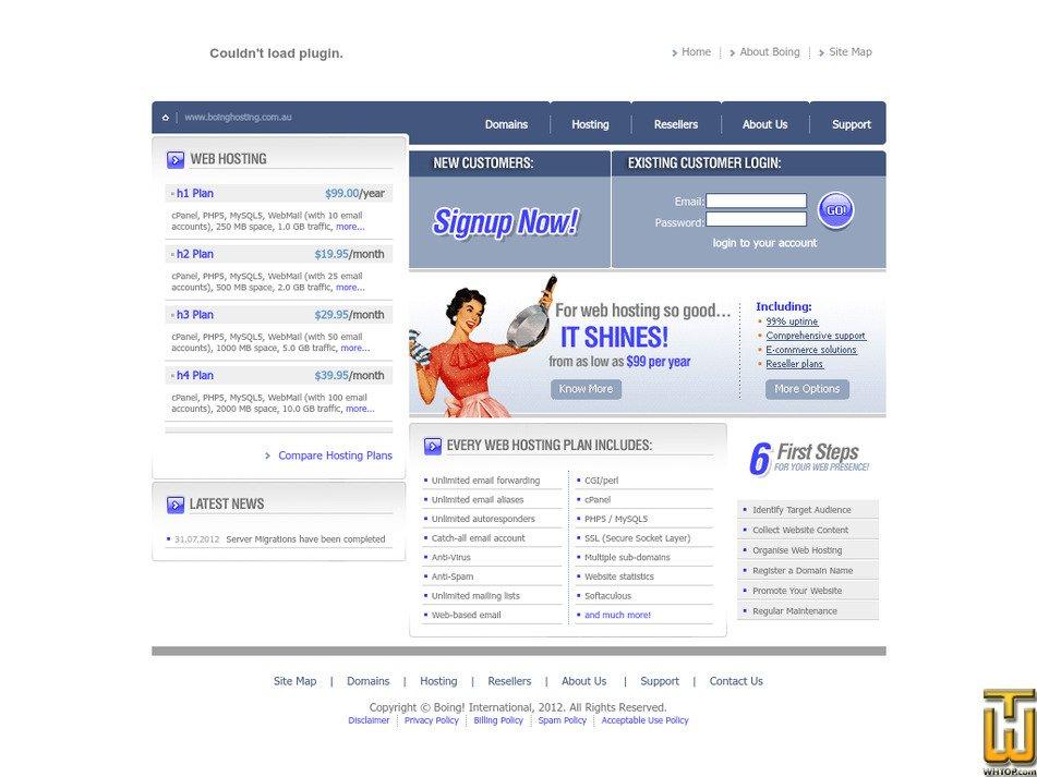 boinghosting.com.au Screenshot