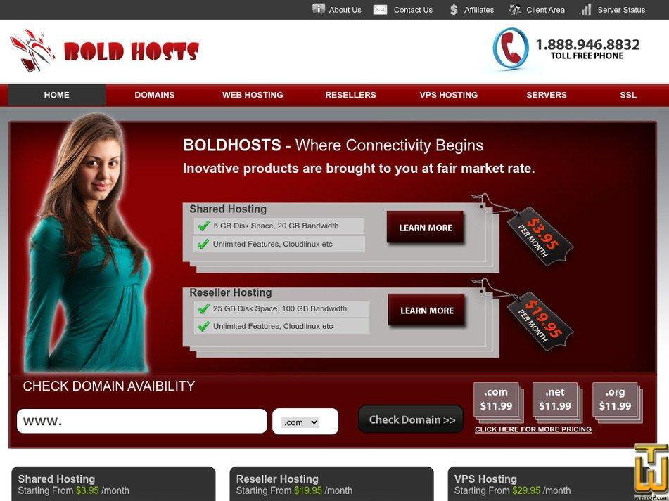 boldhosts.com Screenshot