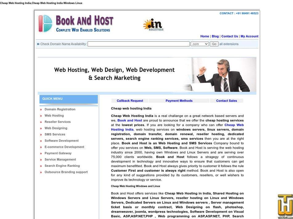 bookandhost.net Screenshot