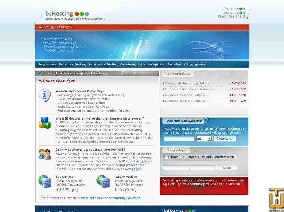 bshosting.nl Screenshot