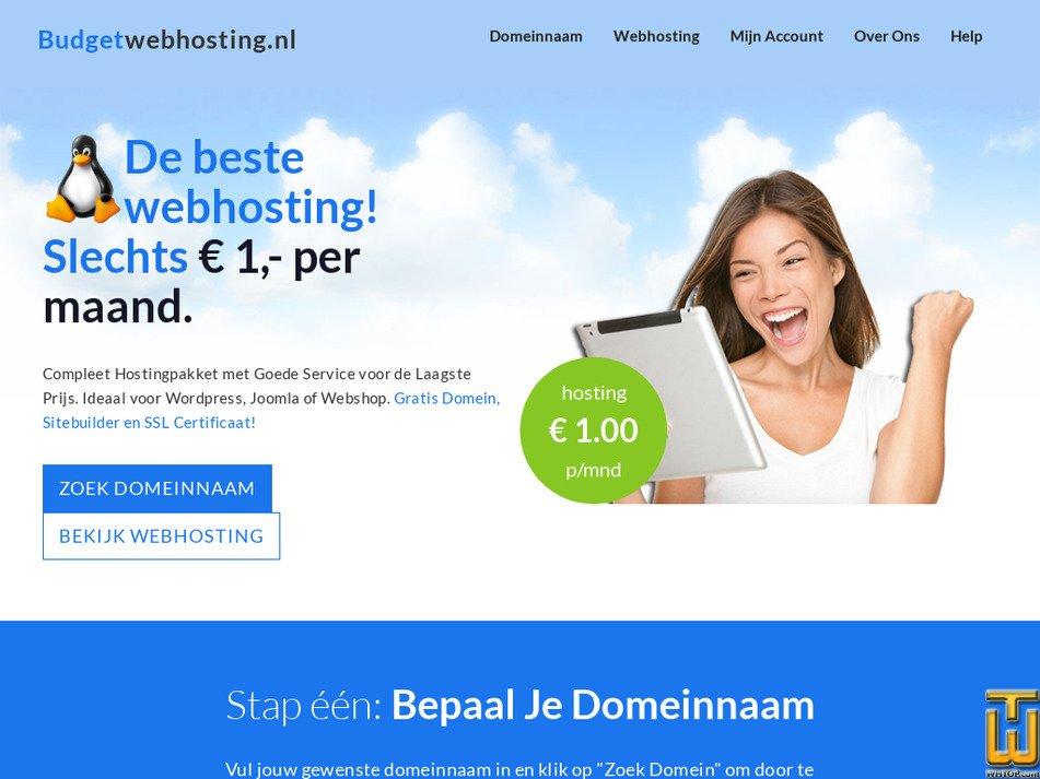 budgetwebhosting.nl Screenshot