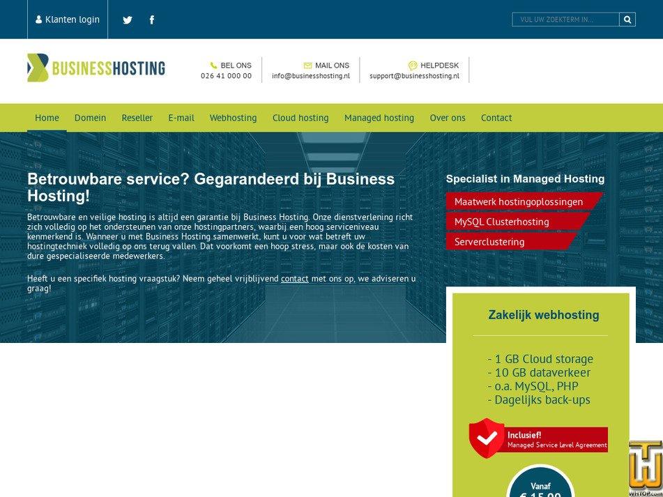 businesshosting.nl Screenshot