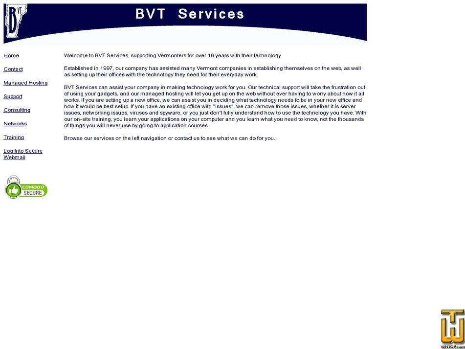bvtservices.com Screenshot