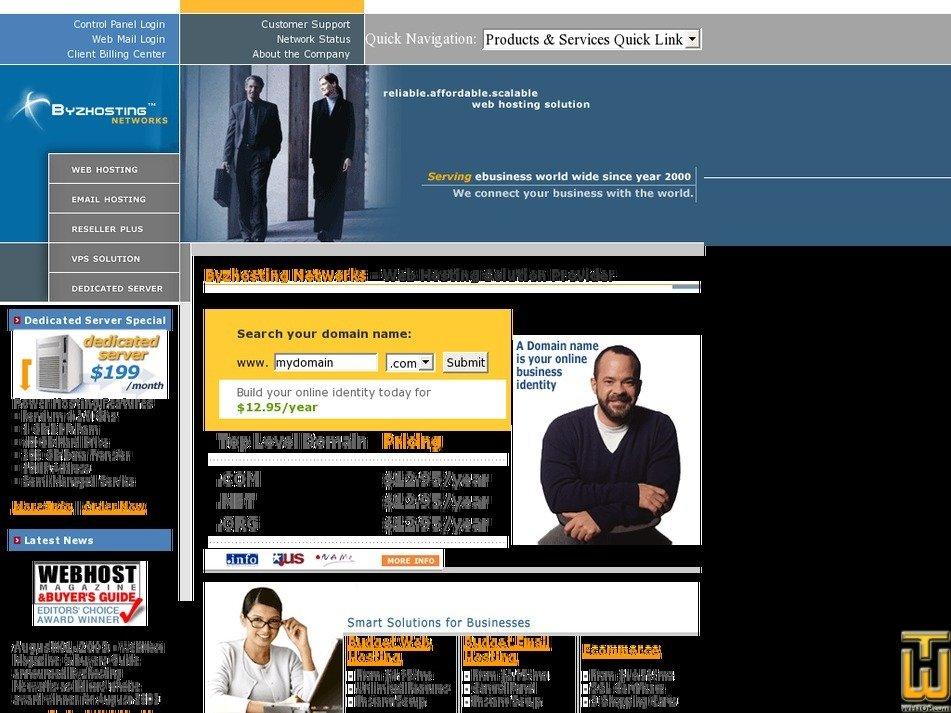 byzhosting.com Screenshot