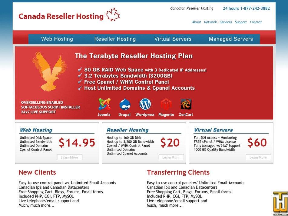 canadaresellerhosting.com Screenshot