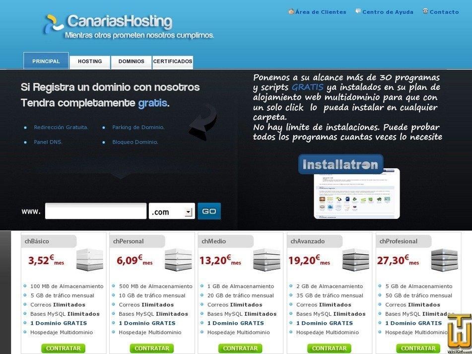 canariashosting.es Screenshot