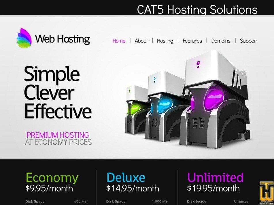 cat5hosting.com Screenshot