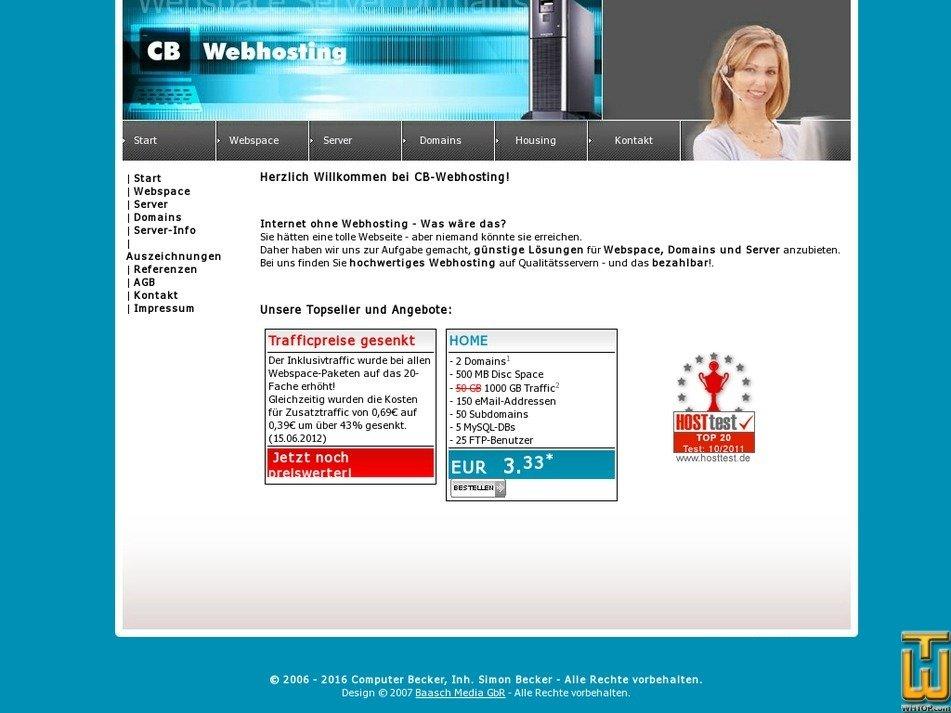 cb-webhosting.de Screenshot