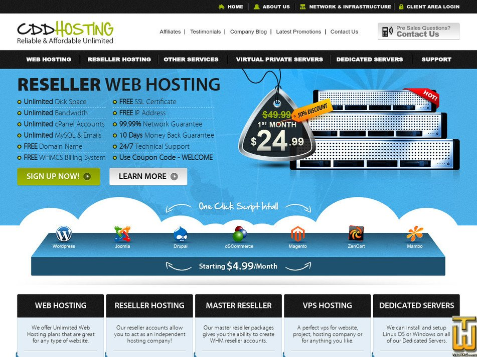 cddhosting.com Screenshot