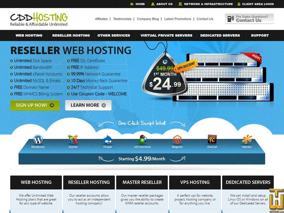 cddhosting.com Screenshot