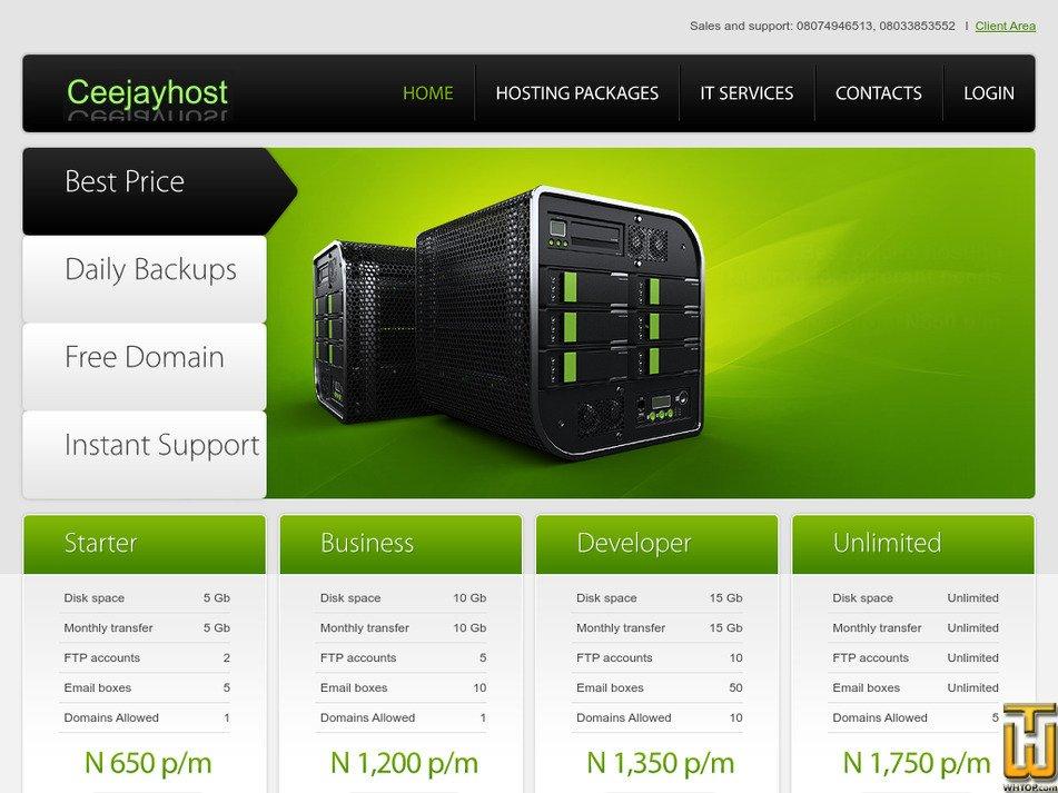 ceejayhost.com Screenshot