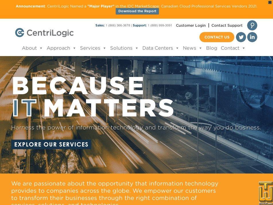 centrilogic.com Screenshot