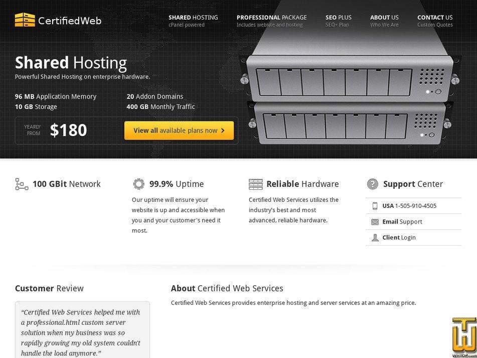 certifiedwebservices.com Screenshot
