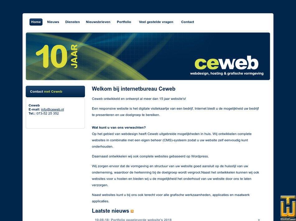 ceweb.nl Screenshot