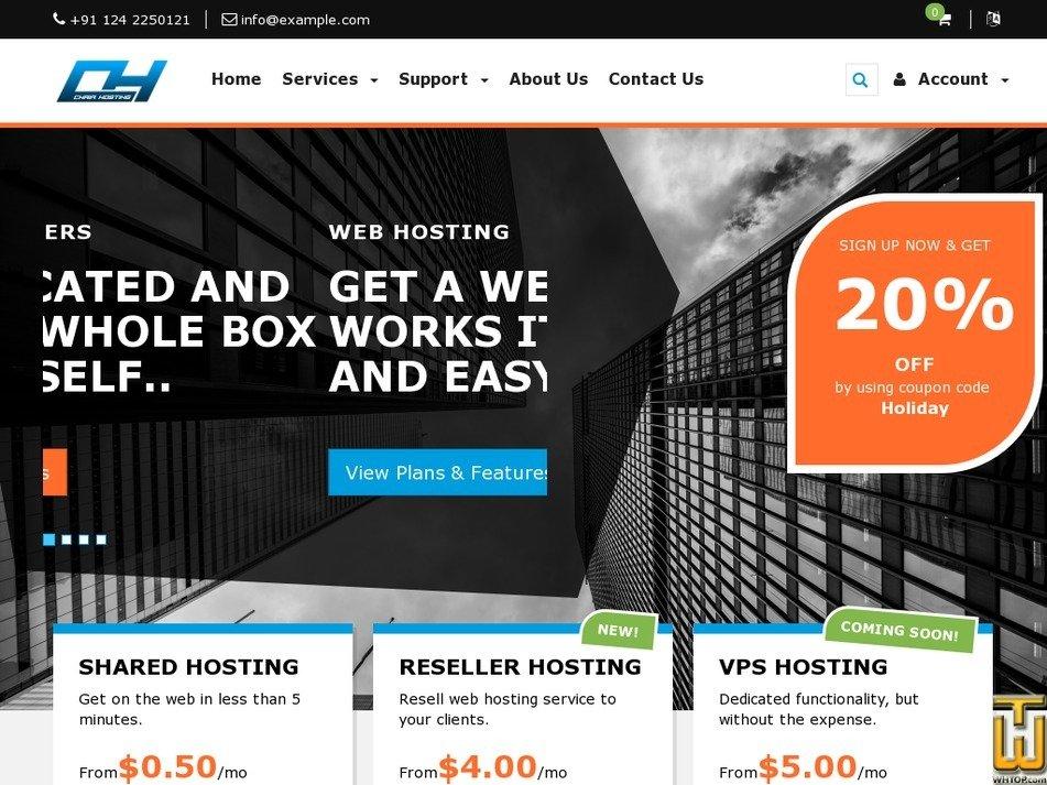 chairhosting.com Screenshot