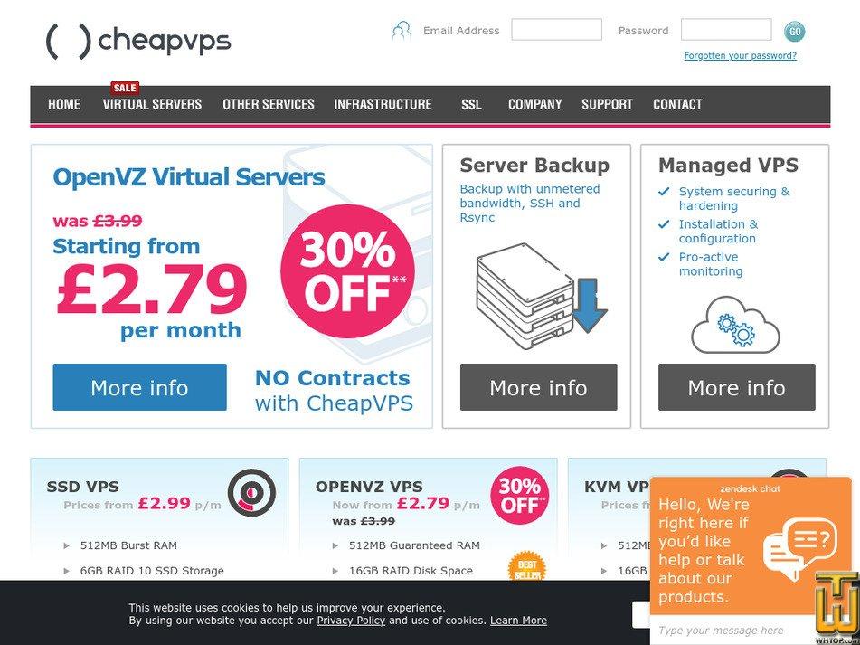 cheapvps.co.uk Screenshot