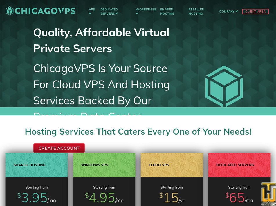 chicagovps.net Screenshot