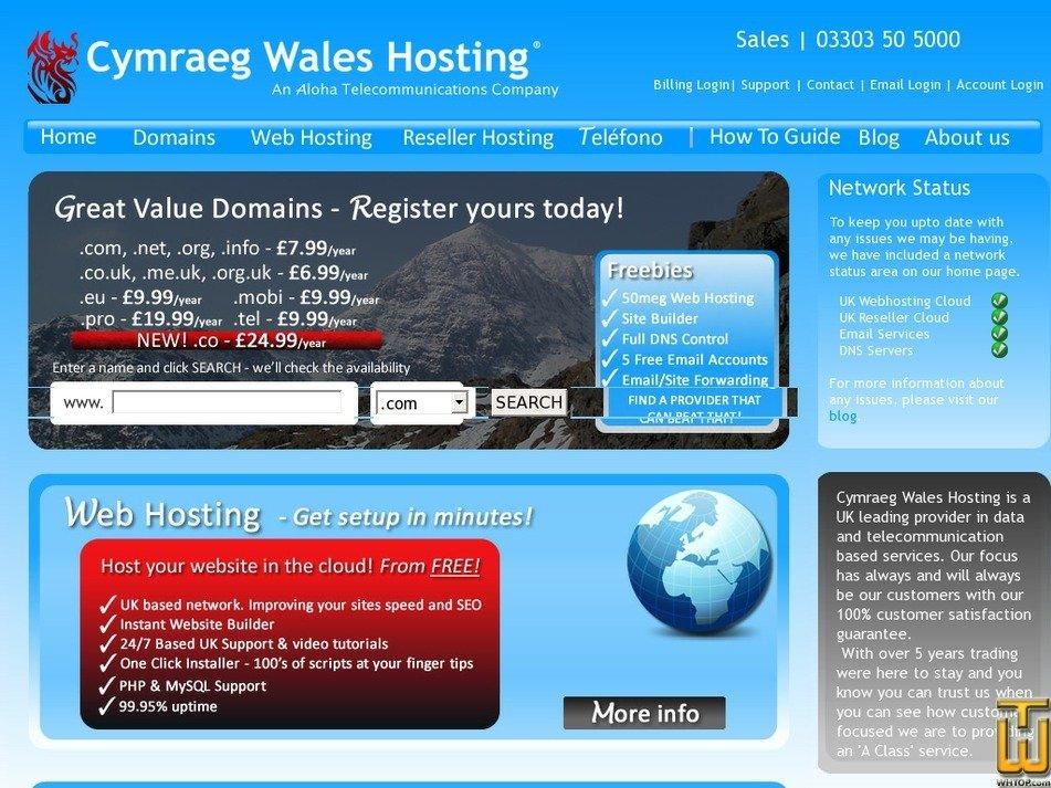 chostwales.com Screenshot