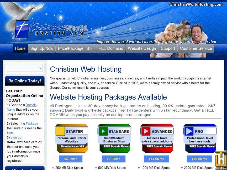 christianworldhosting.com Screenshot