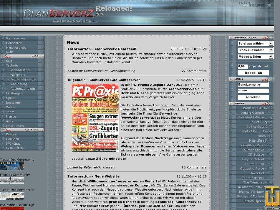clanserverz.de Screenshot