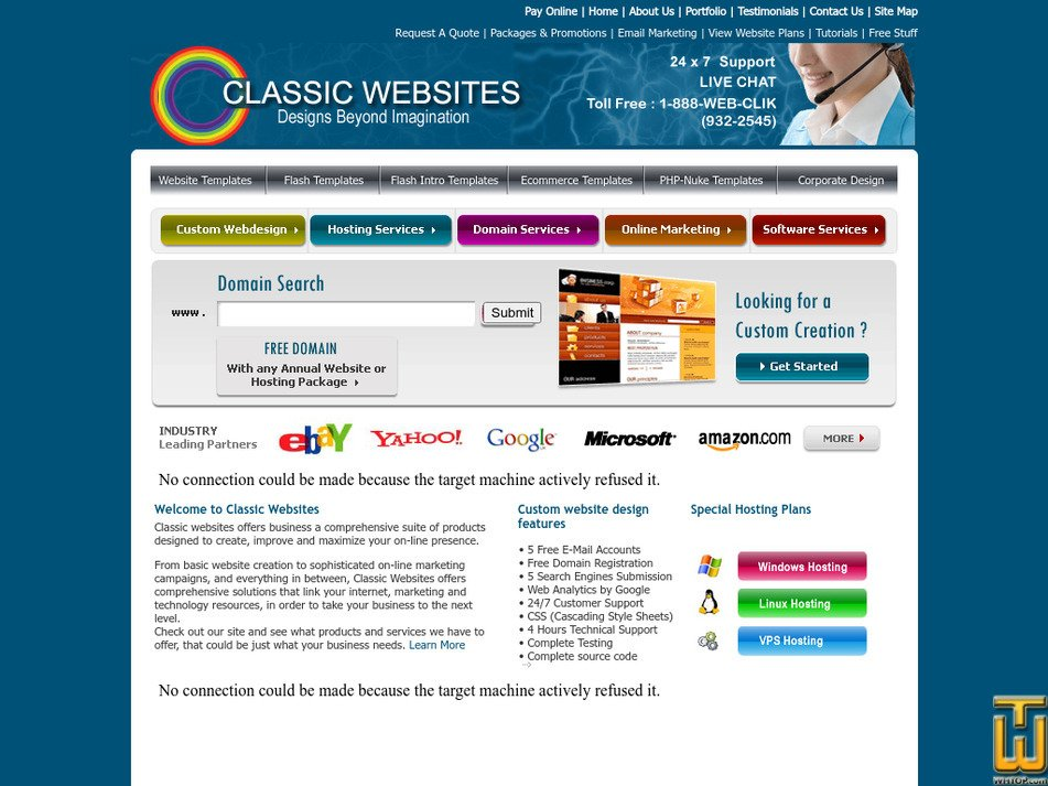 classicwebsites.org Screenshot