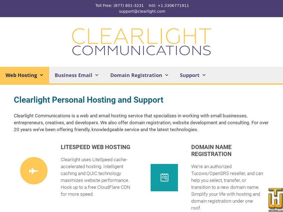clearlight.com Screenshot