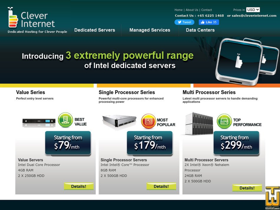 cleverinternet.com Screenshot