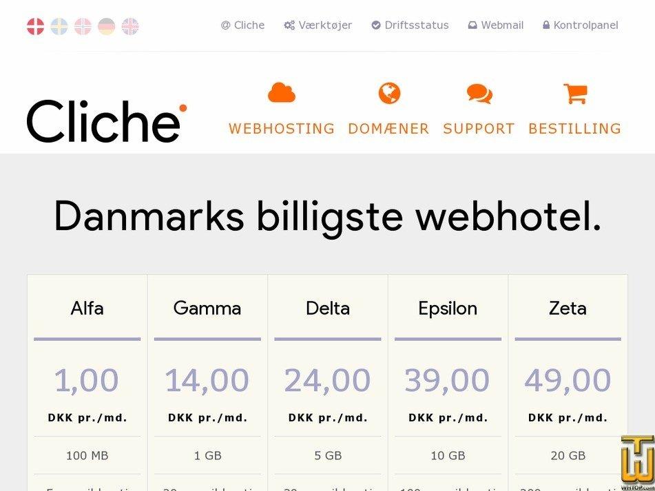 clichehosting.com Screenshot