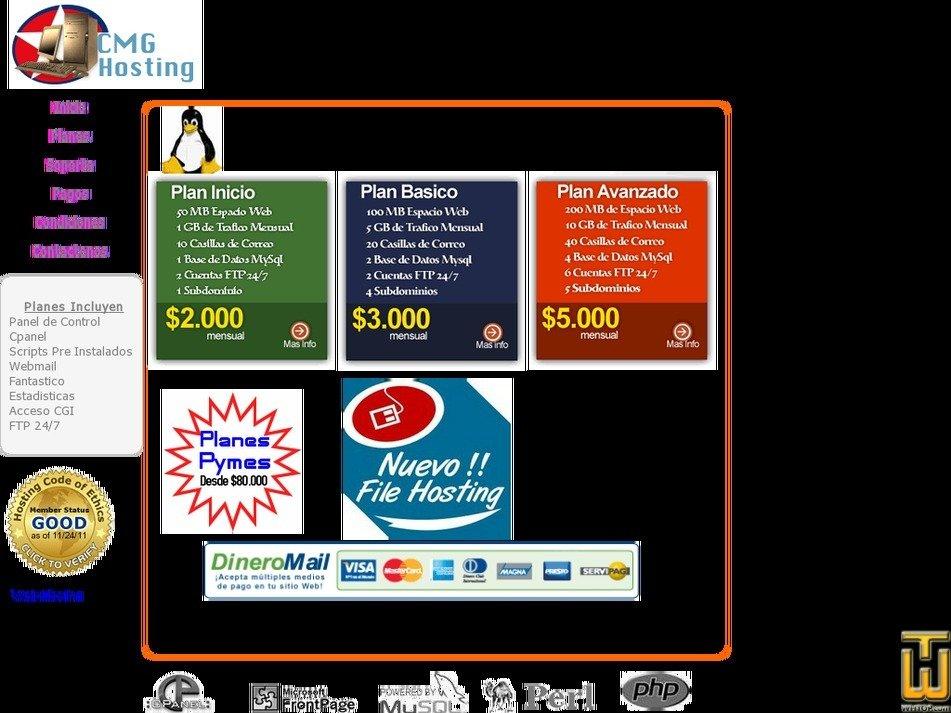 cmghosting.net Screenshot