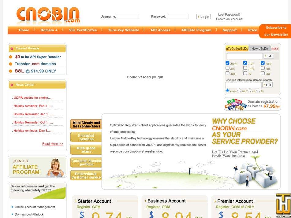 cnobin.com Screenshot