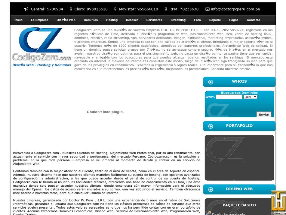 codigozero.com Screenshot