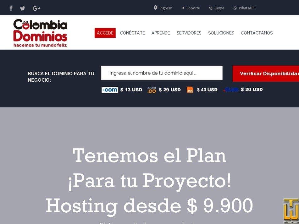 colombiadominios.com Screenshot