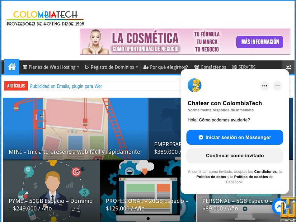 colombiatech.com Screenshot