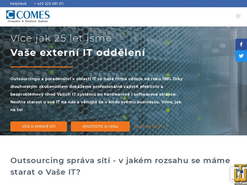 comes.cz Screenshot