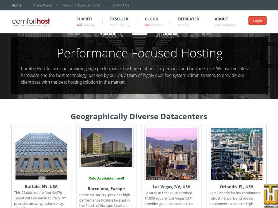 comforthost.net Screenshot