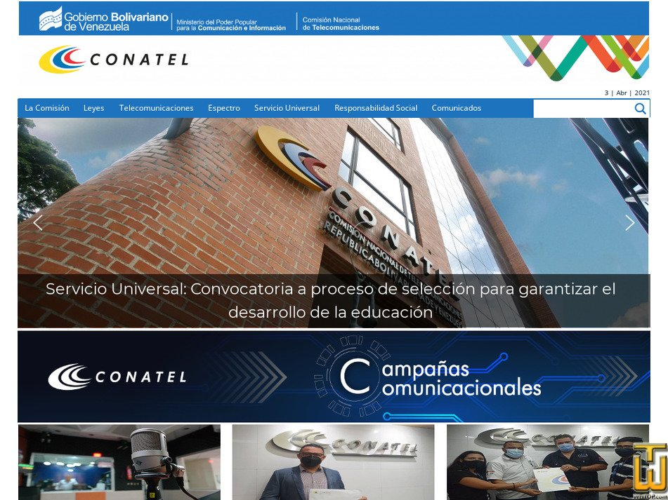 conatel.gob.ve captura de pantalla