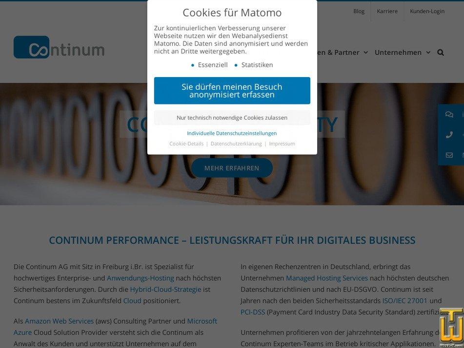 continum.net Screenshot