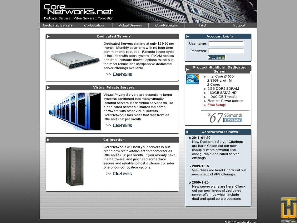corenetworks.net Screenshot