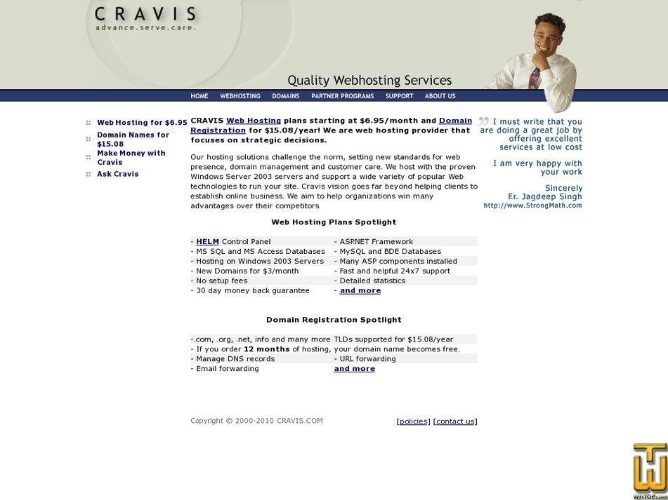cravis.com Screenshot