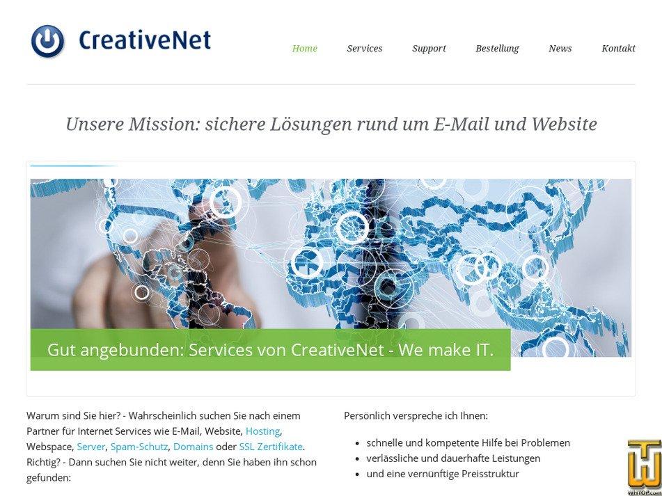 creativenet.de Screenshot